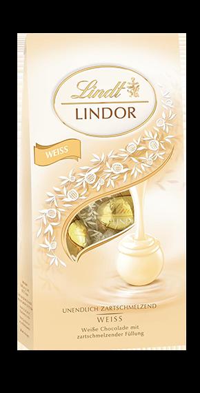 LINDT PREMIUM LINDOR BALL BAG WHITE CHOCOLATE, 136g