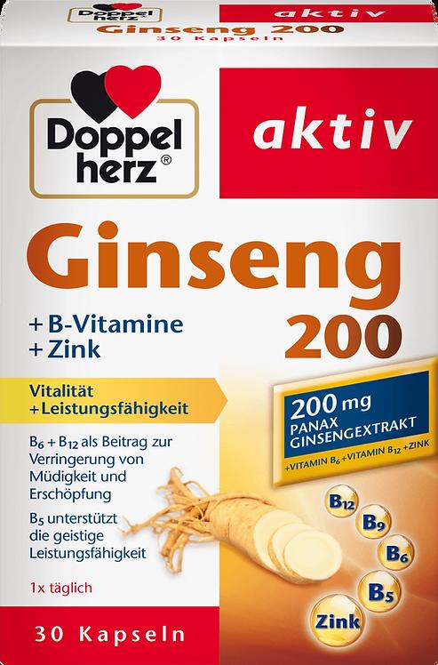 Ginseng + Zinc + Vitamin B capsules 30 pieces, 16.2 g