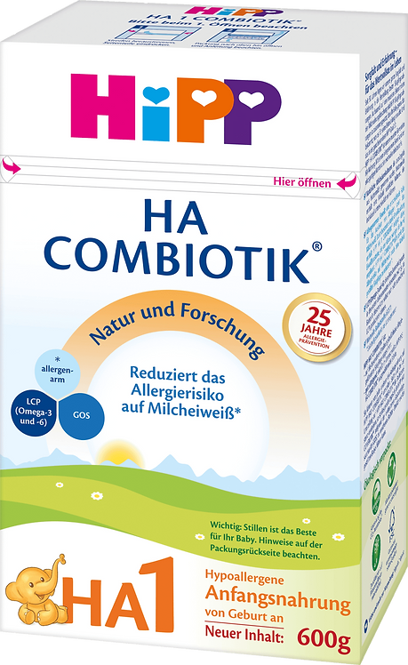 HiPP Infant Formula HA 1 Combiotik from Birth, 600g