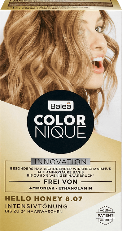 Balea COLORNIQUE Intensive tint Hello Honey 8.07, 200 ml