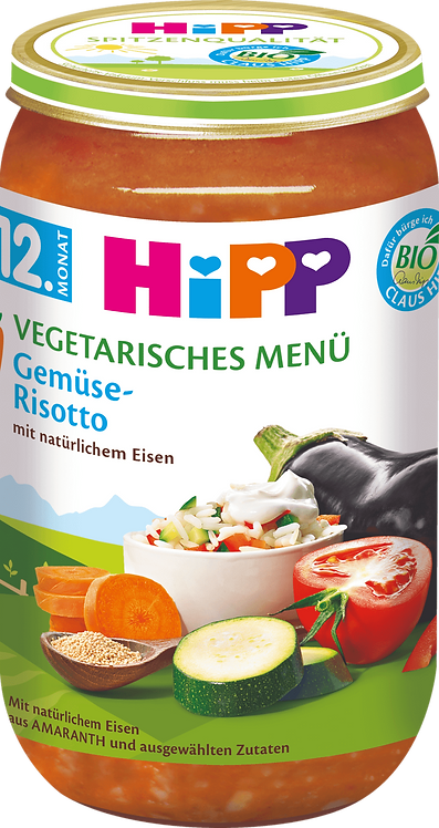 Hipp Children's vegetarian vegetable risotto from 12 months, 250 g