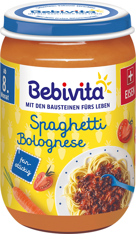 Spaghetti Bolognese menu from the 8th month, 220 g