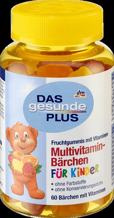 Multivitamin Fruit Bears Gums, 60 pcs