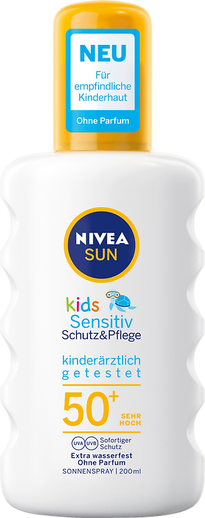 NIVEA SUN Kids Spray Sensitive SPF 50+ UV Protection, 200 ml