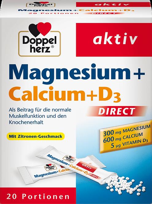 Magnesium + calcium + vitamin D3 direct granules 20 pieces, 55 g