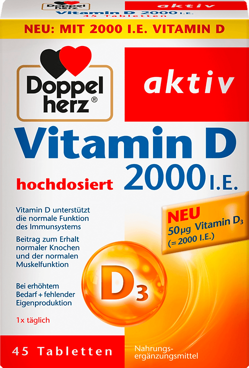 Best vitamin D 2000 I.E  45 Tablets dietary supplements, 18.3 g