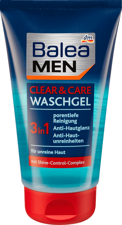 Wash Gel Clear + Care 3in1, 150 ml