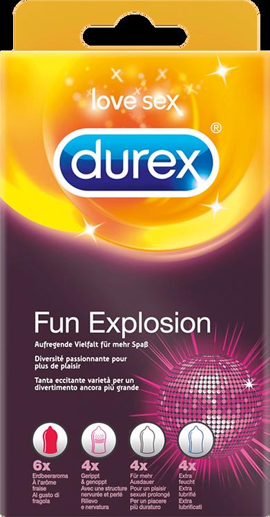 Durex Condom Fun Explosion Condoms, 18 pcs