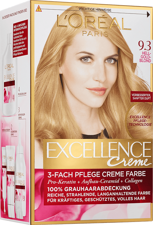 Excellence Coloration Light Goldblond 9.3, 1 pc