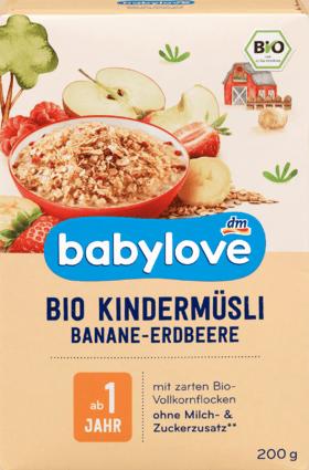 Children's muesli organic banana-strawberry from 1 year, 200 g