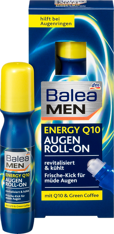 Men Eye Cream Energy Q10 Eyes Roll-On, 15 ml