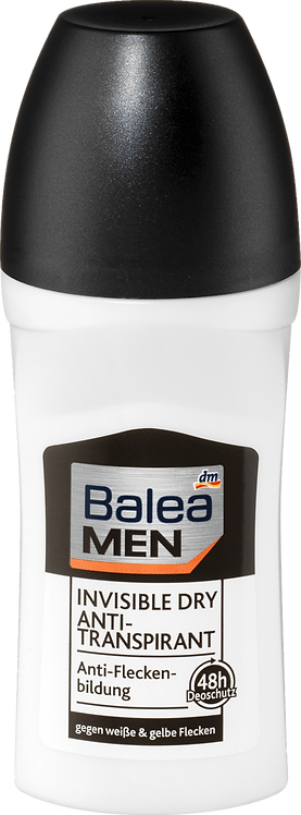 Balea Men's Deodorant Roll on Invisible, 50 ml