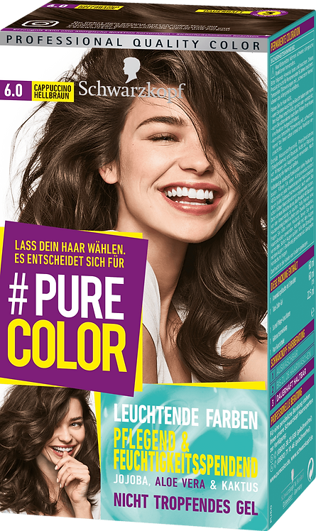 Schwarzkopf #Pure Color Hair color cappuccino light brown 6.0, 1 pc