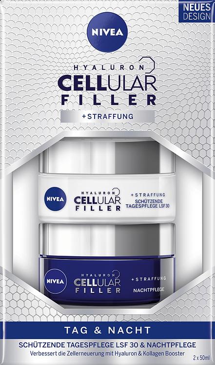 NIVEA Face Care Set Day & Night Care Hyaluron CELLular Filler SPF 30, 2 pcs