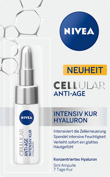Ampoule Cellular Anti-Age Intensive Cure Hyaluron, 5 ml