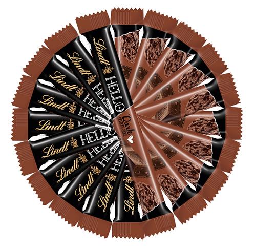 LINDT HELLO DARK CHOCOLATE COOKIE STICK, 10 Packs 390g