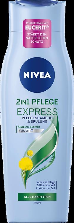 NIVEA 2in1 Care Express Shampoo & Conditioner, 250 ml