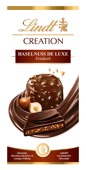 LINDT PREMIUM CREATION HAZELNUT DE LUXE FINEHERB, 150g
