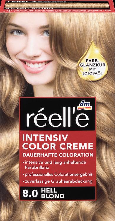 réell'e Hair color light blonde 8.0, 1 pc, 110 ml