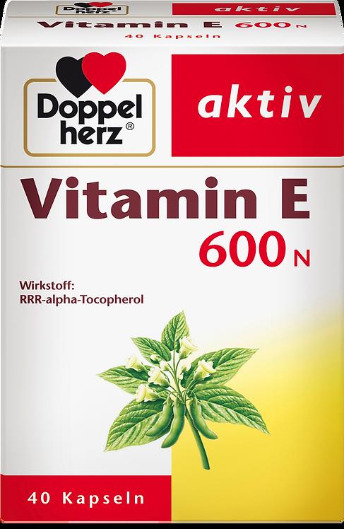 Doppel Herz Vitamin E 600N Capsules, 40 pcs