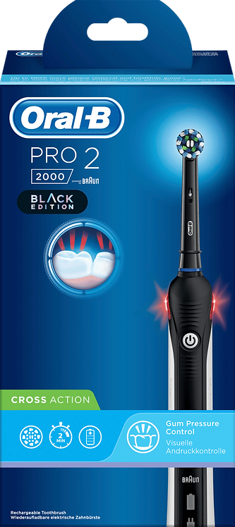 Oral-B Electric toothbrush Pro 2 Black, 1 pc