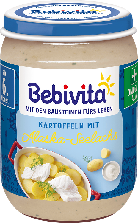 Menu Tolle Knolle Baked potatoes with Alaska pollock from 6 months, 190 g