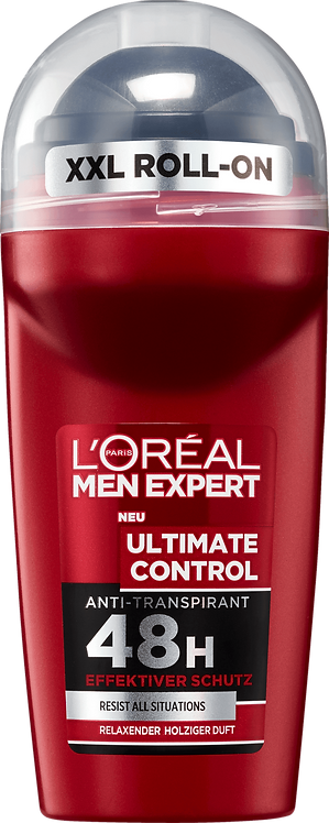 L'ORÉAL Men Expert Deodorant Roll On Antiperspirant Ultimate Control, 50 ml