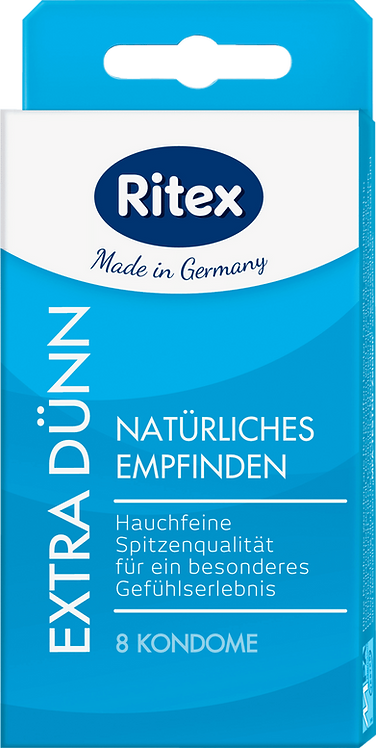 Ritex Extra thin condoms, 8 pcs