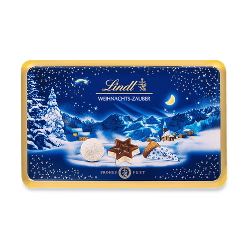 Christmas Magic Present Gift Chocolate pralines tin, 200g