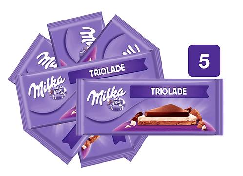 Milka Chocolate Bar Trio 280g
