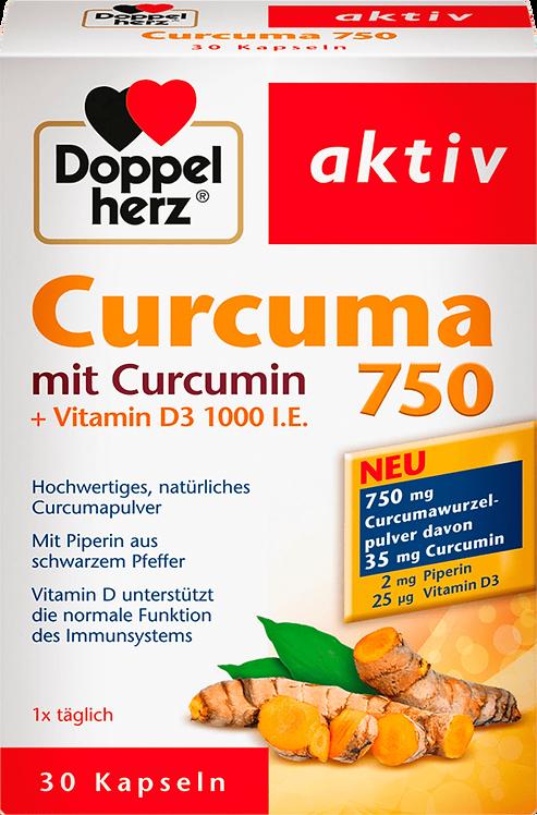 Organic Curcuma Plus 1000 IU Vitamin D Tablets Gluten-free, lactose-free