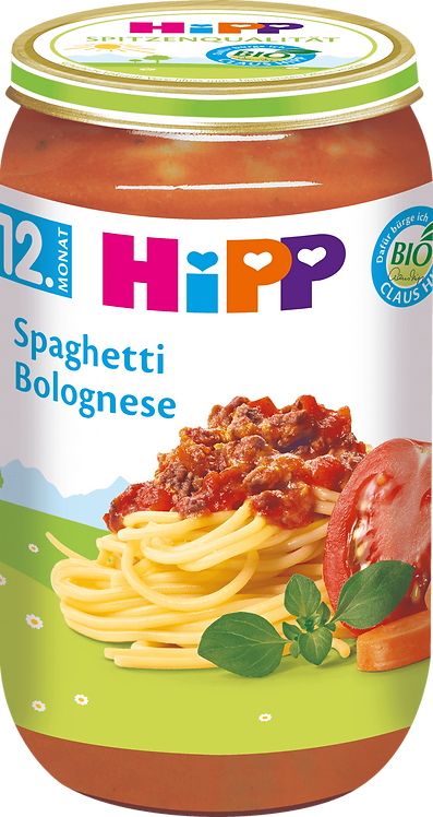 Hipp Children's Spaghetti Bolognese from 12. month, 250 g