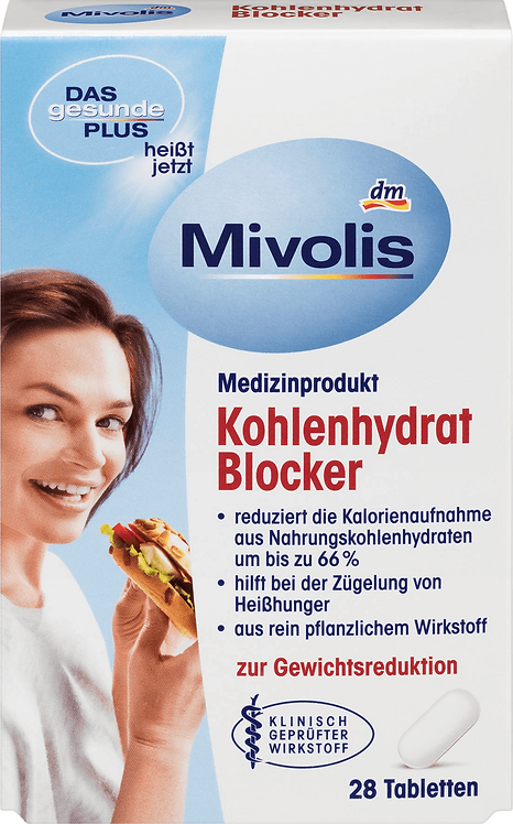 Mivolis Carbohydrate Blocker Weight Loss Tablets, 28 pcs.