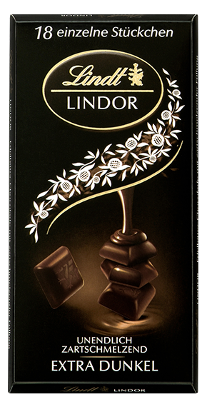 LINDT PREMIUM LINDOR SINGLES DARK 60% CHOCOLATE, 4 Packs 400g