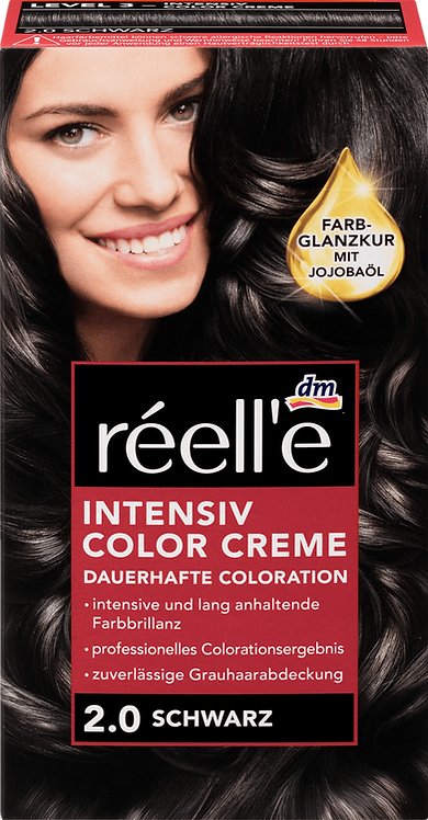 réell'e Hair color black 2.0, 1 pc