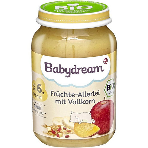 Organic Baby Fruit mixed vegetables with whole grains 190g