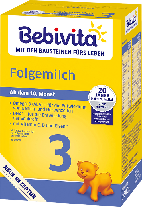 Bebivita Follow-on milk 3 from the 10th month, 500 g