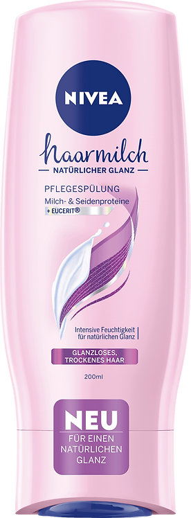 NIVEA Conditioner Hair Milk Shine, 200 ml