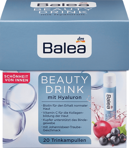 Beauty Drink with Hyaluronic + Vitamin C Dietary Supplements, 500 ml