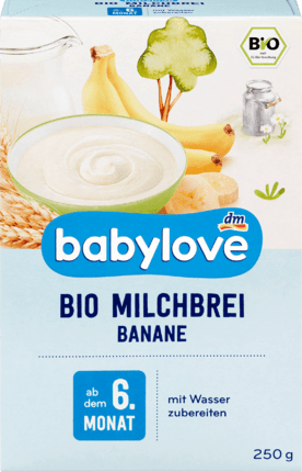 Baby Food Organic banana milk porridge from the 6th month, 250 g