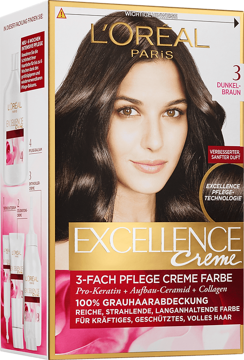 Excellence Coloration Dark brown 3, 1 pc