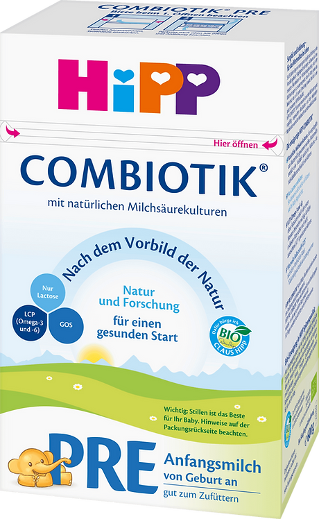 HiPP PRE Stage Organic Combiotik Infant Formula From Birth, 0.600 g