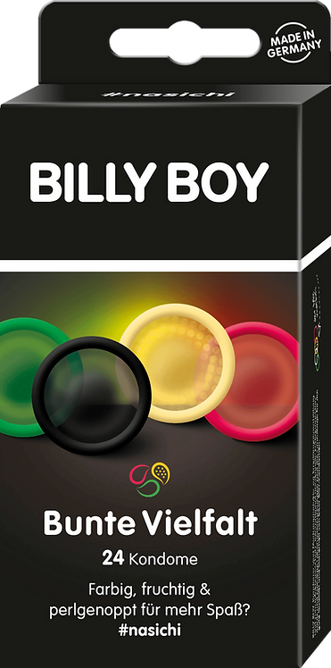 BILLY BOY Condoms Colorful variety, 24 pcs