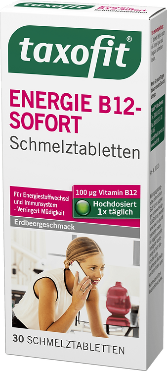 Energy B12 - Immediately Orodispersible tablets, 30 pcs