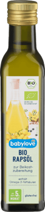 Complementary food oil Organic rapeseed oil from the 5th month, 250 ml