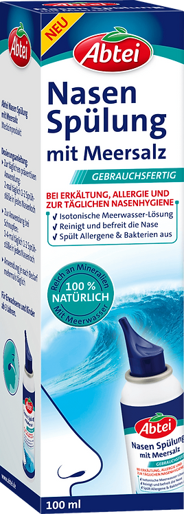 Nasal irrigation with sea salt, 100 ml