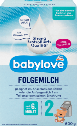 Baby Follow-on milk 2 after the 6th month, 500 g