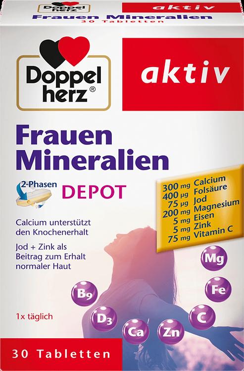 Women Iron + Zinc minerals folic acid, magnesium depot tablets 30 pcs., 44.1 g