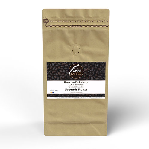 French Roast Kamerun Perlbohnen 100% Arabica 500g