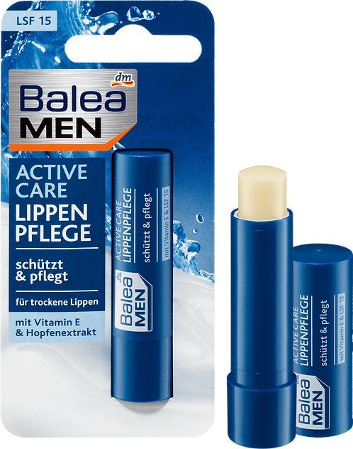 Men Lips Care Active Care with SPF 15, 4.8 g